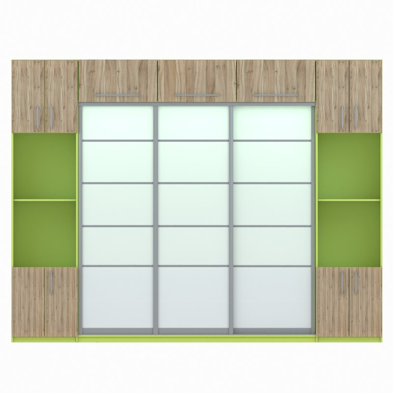 wardrobe glass sliding doors 3d model