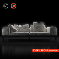 flexform lifewood sofa wood 3d max