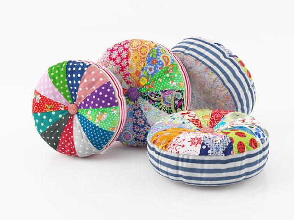 3d model fabric cushions