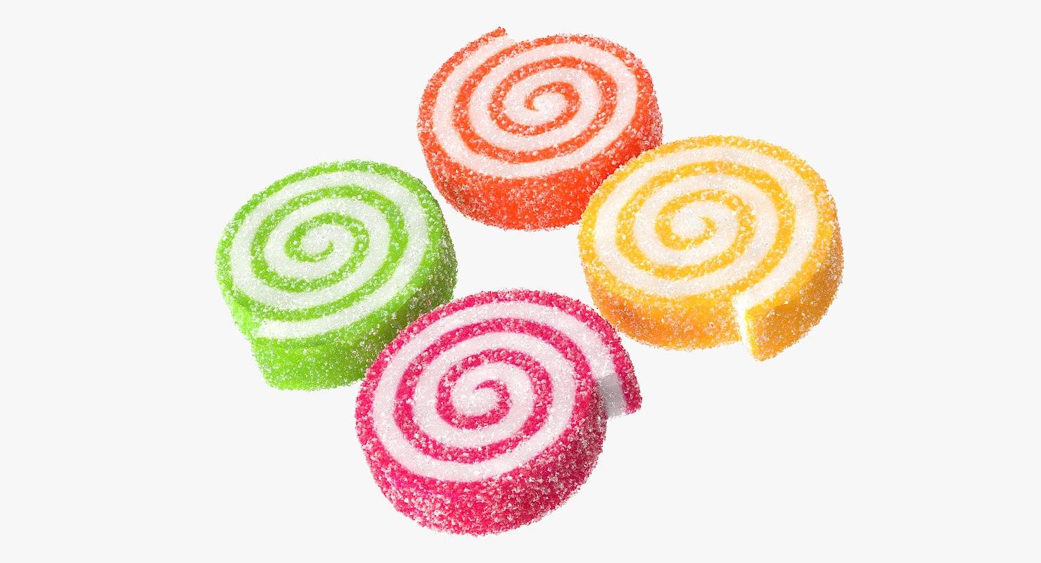 realistic sugar paste rolls 3d max