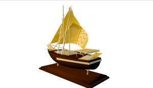 decoration ship 3d 3ds