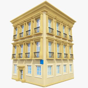 3d house background old model