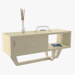 wood console 3d model