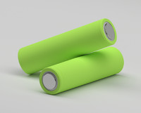 li-ion 18650 battery 3d obj
