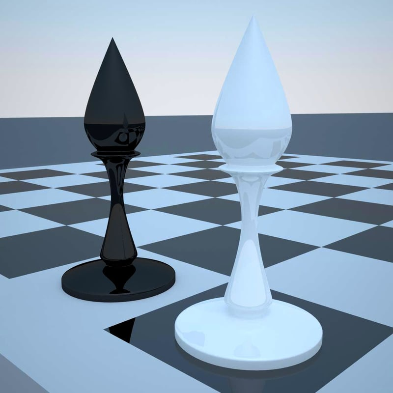 3d chess elephant