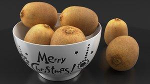 3d kiwi fruits