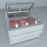 custom refrigerated showcase minced 3d max