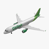 3d max airbus a320 citilink animation