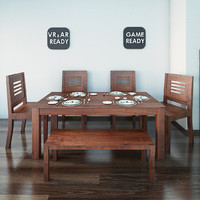 Dining Table02 VR_AR_Game Ready