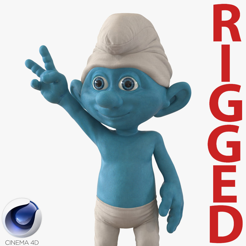 3d smurf rigged model