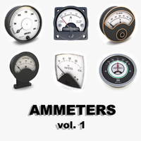 vintage analog ammeters vol1 3d 3ds