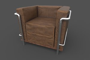 3d model armchair ready unity