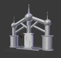 power generator animations 3d model