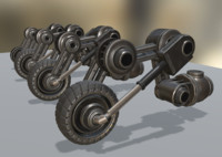 hydraulic suspension basic tires 3d blend