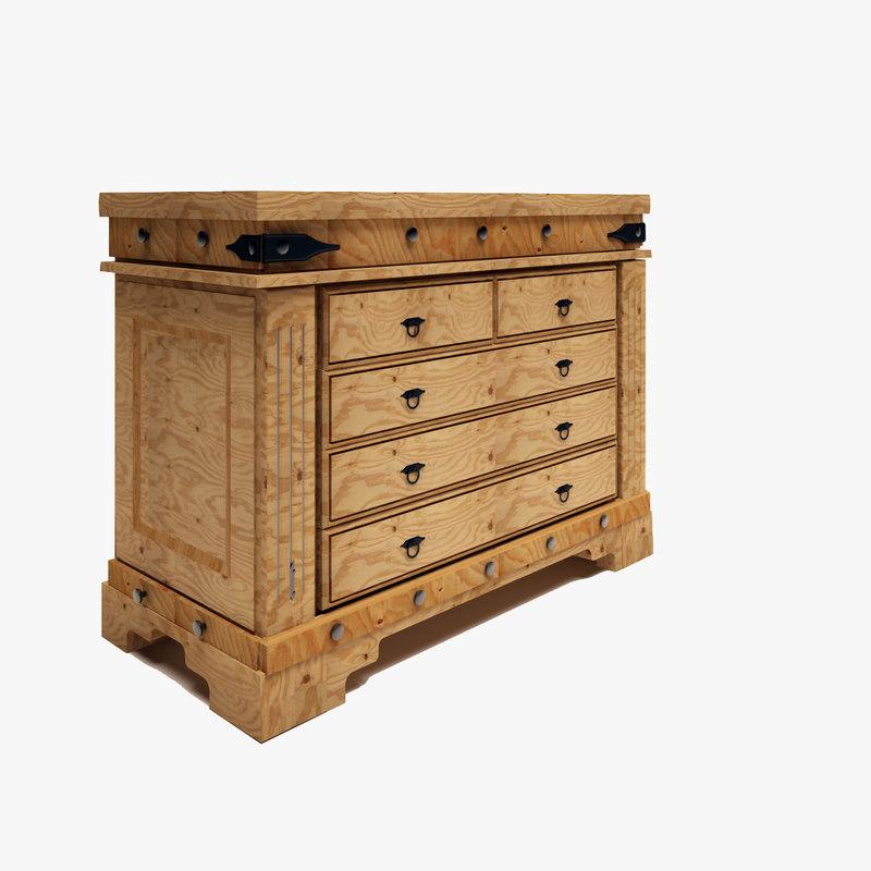 3d chest of model