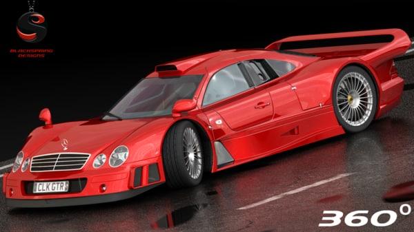 mercedes-benz clk-gtr 1997 3d model