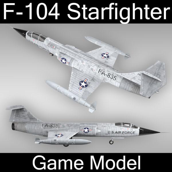 f-104 starfighter 3d max