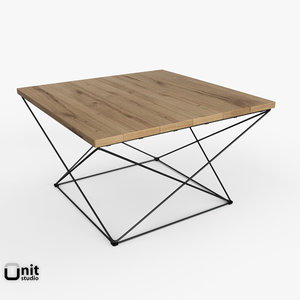 angled base coffee table 3d max