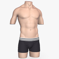 clothing men mannequin 3d model