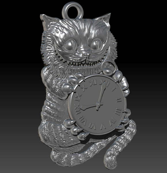 3d cheshire cat charm model