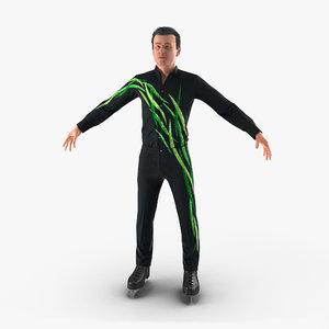 male figure skater 2 3d model