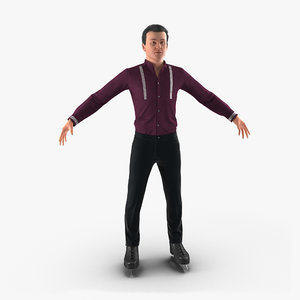 3d max male figure skater
