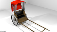 3d model ricksha rickshaw