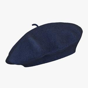 wool blue beret max