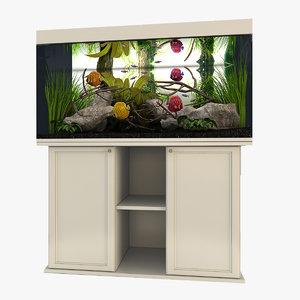 aquarium tropical 3d model