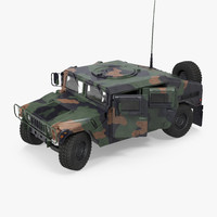 3d humvee m1151 rigged camo model