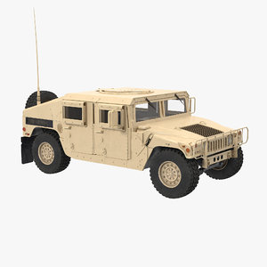 humvee m1151 simple interior 3ds
