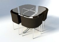 3d model modern dining table