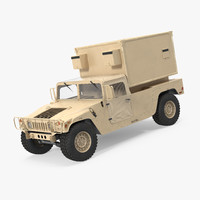 shelter carrier mse hmmwv 3d model