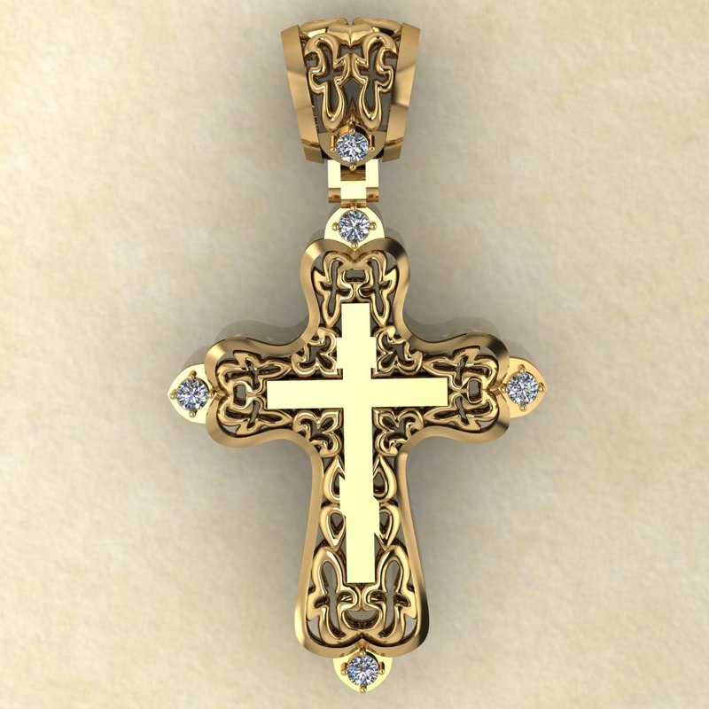 pendant cross 3d model