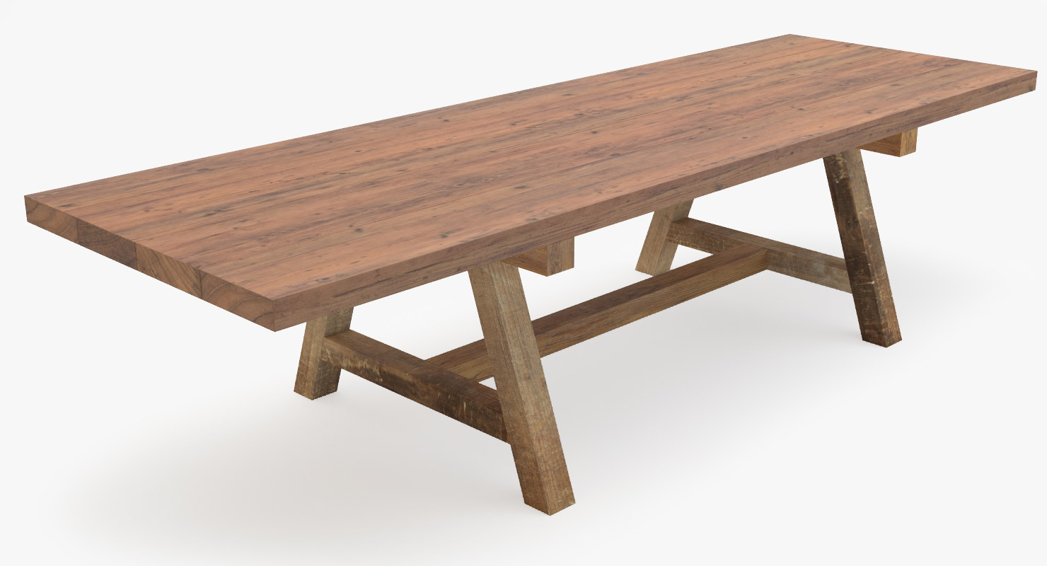 3d old dining table