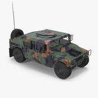 humvee m1151 camo 3d model