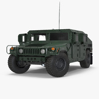 humvee m1151 rigged 3d model