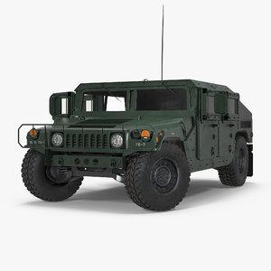 humvee m1151 rigged 3d model
