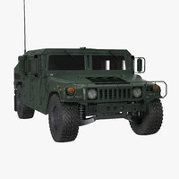 3d model humvee m1151 simple interior