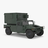 Shelter Carrier MSE Car HMMWV m1037 Green