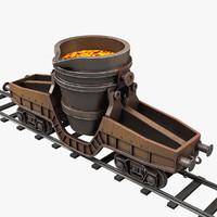 hot metal ladle transfer 3d max
