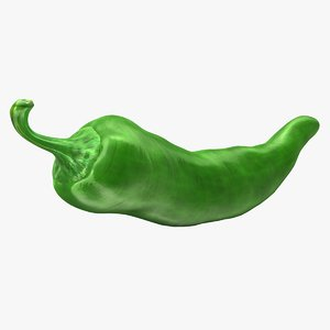 3d chili pepper green
