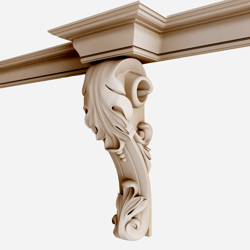 corbel architecture wall 3d model