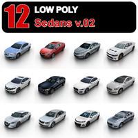 3d sedans traffic games model
