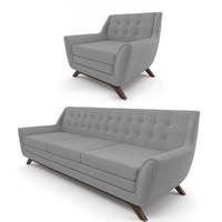 3d model aubrey sofa