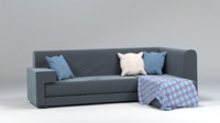 fabric couch sofa 3d obj