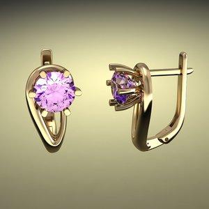 3d earrings 11 model