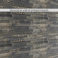 mosaic wood panel planks 3d max