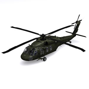 uh-60 black hawk helicopter 3d 3ds