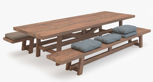3ds max old dining table
